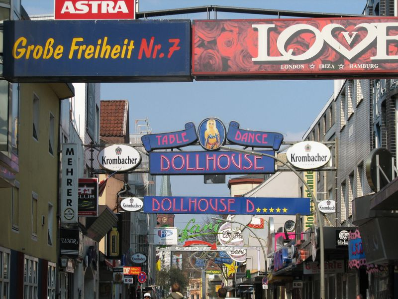 Reeperbahn auf St. Pauli