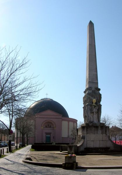 St. Ludwigskirche und Alice Denkmal