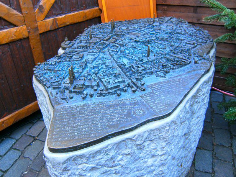 Reiseziel Bronzemodell Lübeck