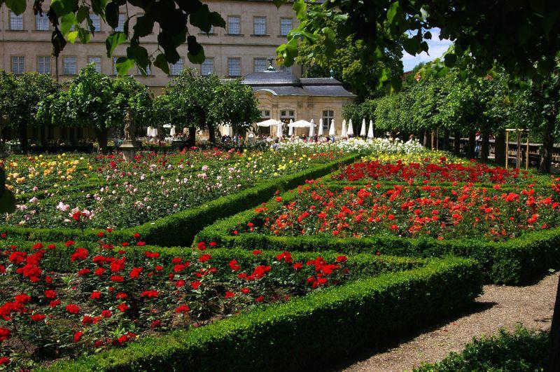 Rosengarten der Neuen Residenz